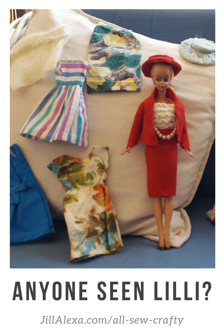 Do you remember Lilli? Hazelmay Duncan, our Star of the Sew has kept her in mint condition for 61 years. She also made these gorgeous clothes for her. #allsewcrafty