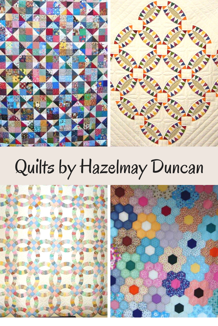 These stunning quilts are a few of the 201 quilts Hazelmay Duncan has lovingly quilted. #allsewcrafty #quilting #quilters