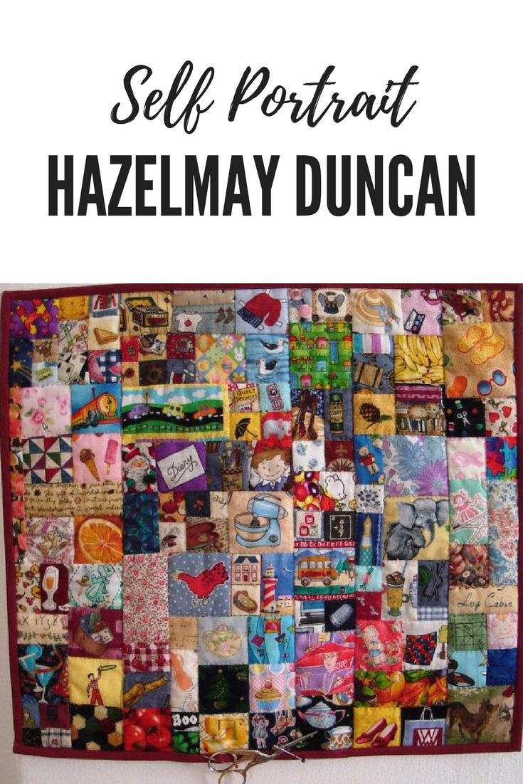 Hazelmay Duncan's Self Portrait Quilt June 2011. #quilting #quilters #allsewcrafty
