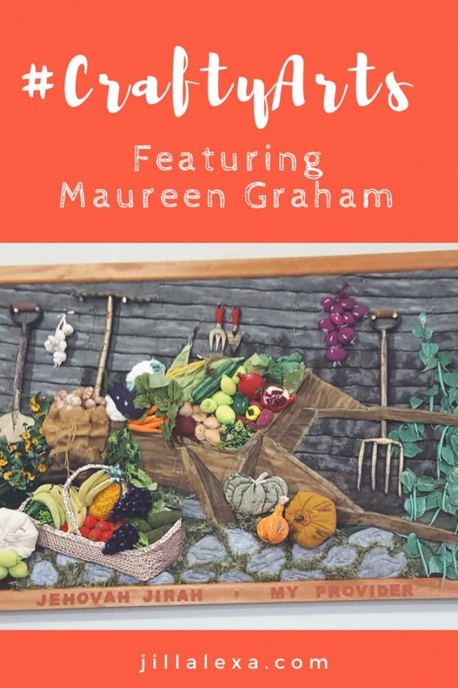Meet our first #CraftyArtist Maureen Graham. She sews, crafts and paints. #craftyart