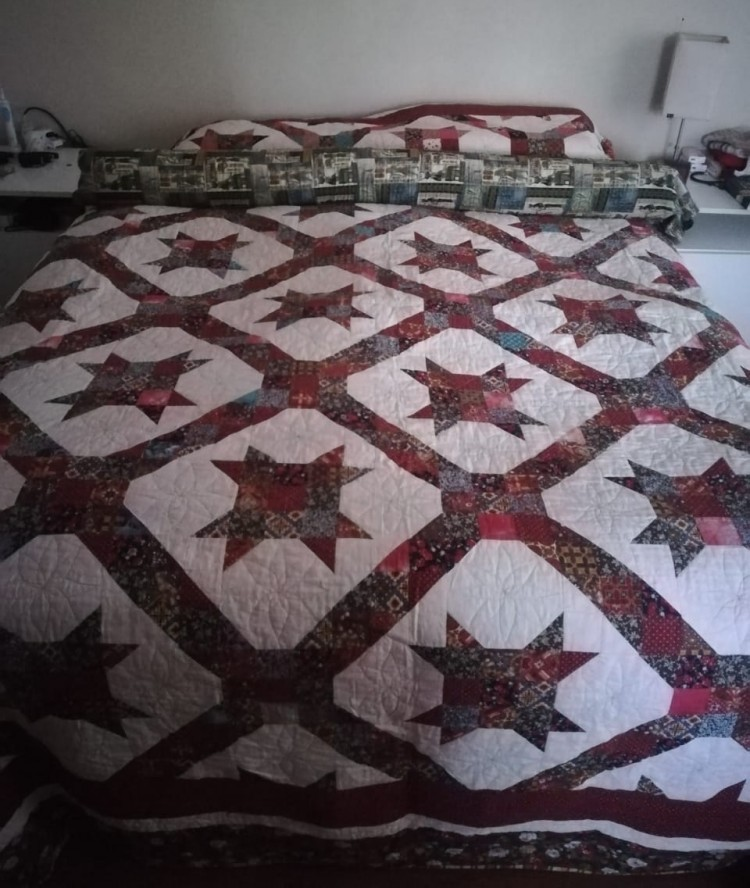 Quilt made for son Greg and his wife Kelly by JillAlexa.com