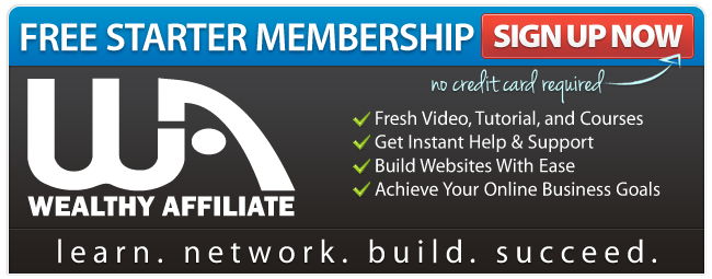 Join Wealthy Affiliate Today. Starter Membership is Free.