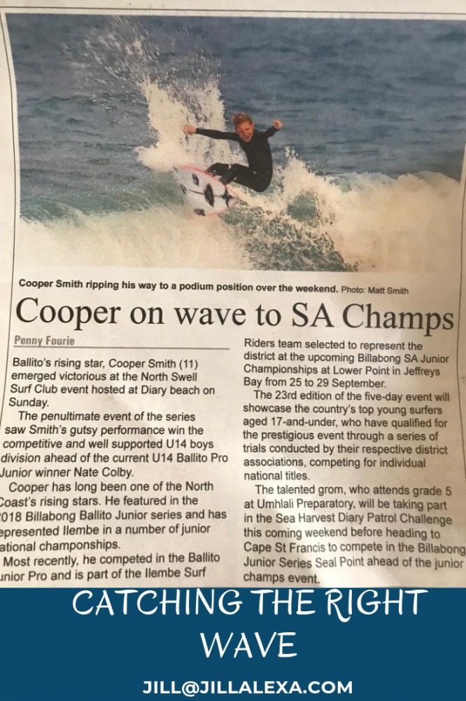 #Cooper, catching a good wave