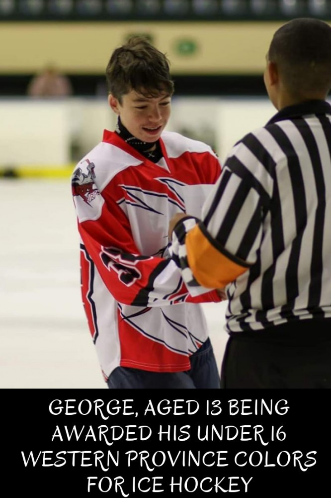 George chose ice-hockey