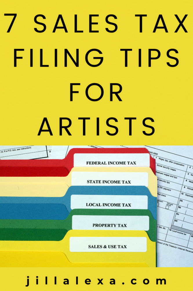 You don't have to be an expert on sales tax filing matters, nor an accountant to file your sales tax. However, you may need expert help. Here are some helpful tips for Artists. #salestaxfilingtipsforartists