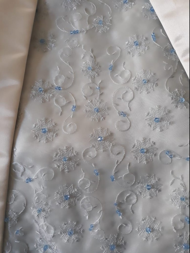 Embroidery And Beading on Jean's Wedding Gown